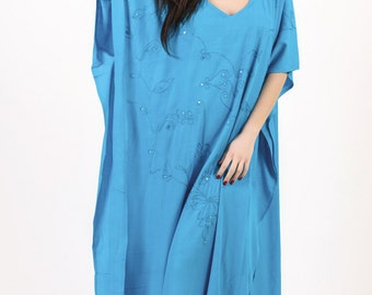Long Kaftan, Plus Size Dress,PONTCHO,Hippie Dress,Beach Sundress,Tunic,Free Size,summer kaftan,Beach Cover Up, Beach Wear Dress,Boho Dress.