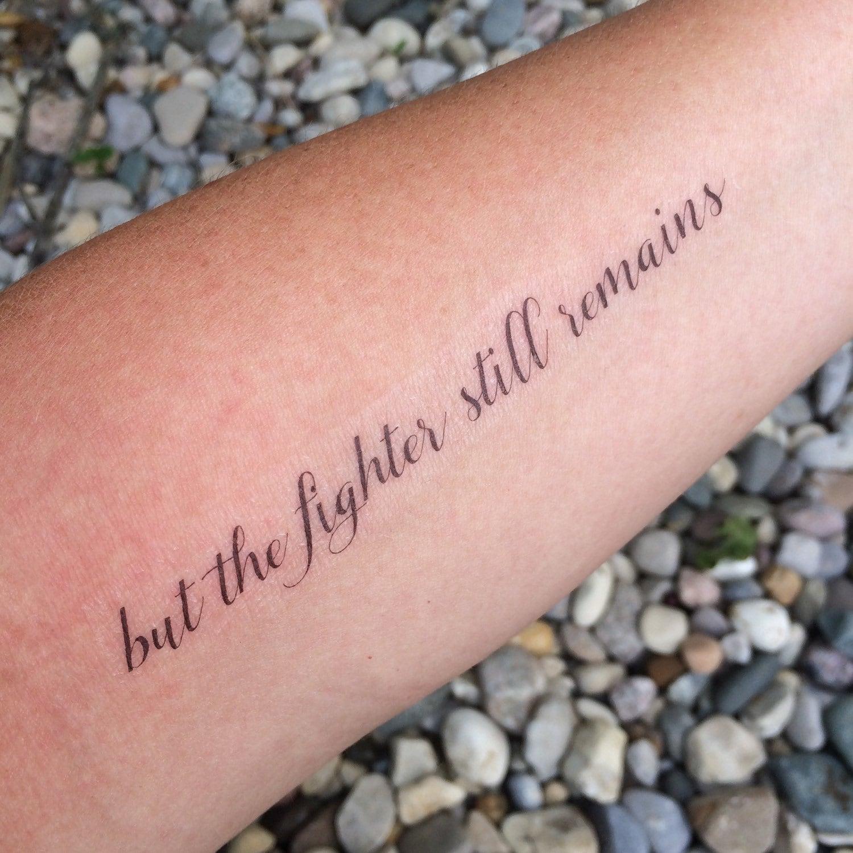Fighter Still Remains Fighter TattooMotivational