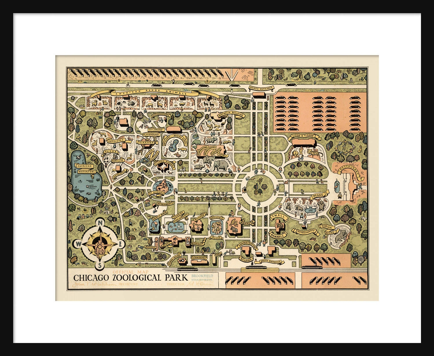 Brookfield Zoo Etsy - Chicago map etsy