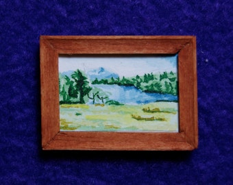 Miniature Painting - View of Tarn Hows