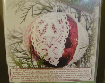 Anita Goodesign - Lace Ornaments - Christmas machine embroidery - Free standing lace embroidery design