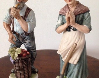 Gardeners Old People Figurine