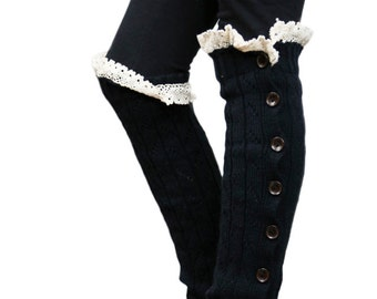 Girls Leg Warmers Navy by Modern Boho