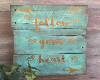Painted Wood Sign - Wood Signs With Sayings - Rustic Wood Signs - Distressed Wood Sign -  Inspirational Sign - Wood Wall Decor