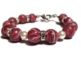 Bracelet made from your Special Flowers by flowers2beads