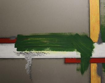 "Original Abstract Art Painting, ""Pripyat"" by Contemporary British Artist, Ray Chapman"