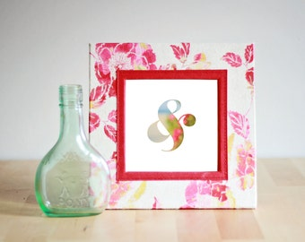 Colorful Ampersand Print - Typography photo print for home or office