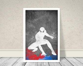SpiderMan Inspired Art, Chalkboard Art, Superhero Art