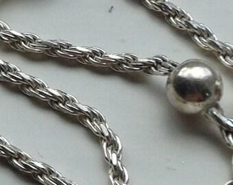 Vintage 925 Sterling Silver Saturn link chain Bracelet 7 inch