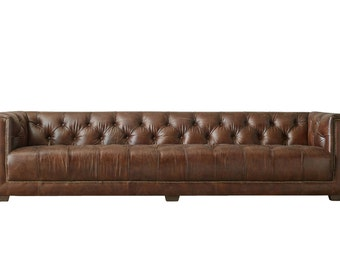 Bennet Whiskey Leather Sofa, TAG by Tandem Arbor