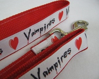 I Love Vampires Dog Leash