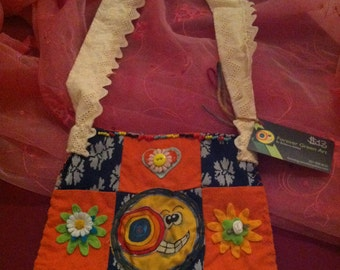 """Forever Green Art - Small """"Mr. Moon"""" Purse"""