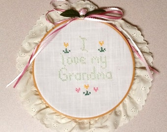 I Love my Grandma Needle-point Wall Hanging