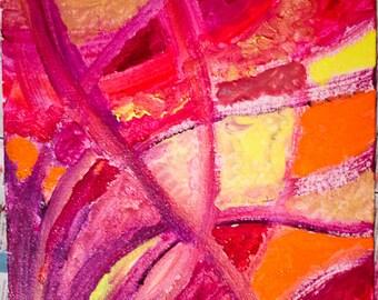 "Original Abstract Art Painting in Acrylics: ""Karpur Gauram"""