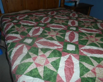 Flowers -pink quilt made to order