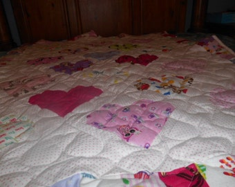Lots of Love with hearts quilt