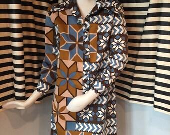 Vintage Lanvin Printed Shirtdress