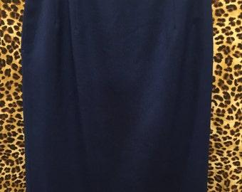 Vintage deep blue 100% wool Pendleton skirt
