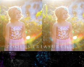 35 Glitter and Dust Overlays by Hoppman Photography