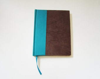 "Teal Casebound Handmade Sketchbook (5.5"" x 4.25"")"