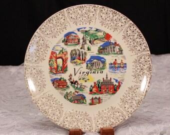 Mid-Century Virginia Display Plate