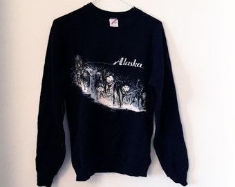 Vintage Alaska fleece-jumper (S)