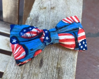 American flag colors handmade bowtie