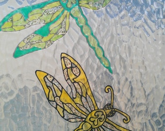 Dragonfly Window Cling