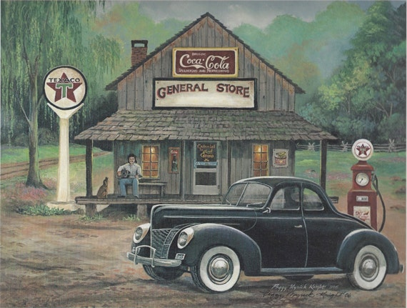 old cars trucks country general store. Black Bedroom Furniture Sets. Home Design Ideas