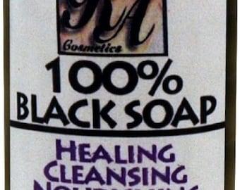 RA Cosmetics 100% African Black Soap - 8oz