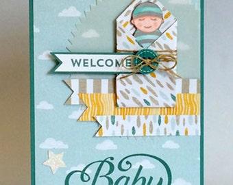 Handmade Gender Neutral 'Baby' Card