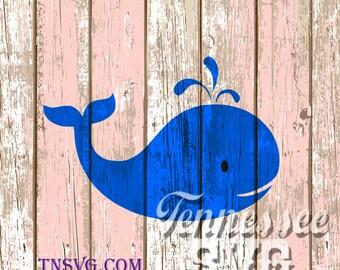Nautical, Beach SVG, Whale, Summer, Aquatic, PNG, FCM, Stencil, Decal