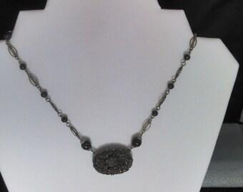 1930s molded glass pendant