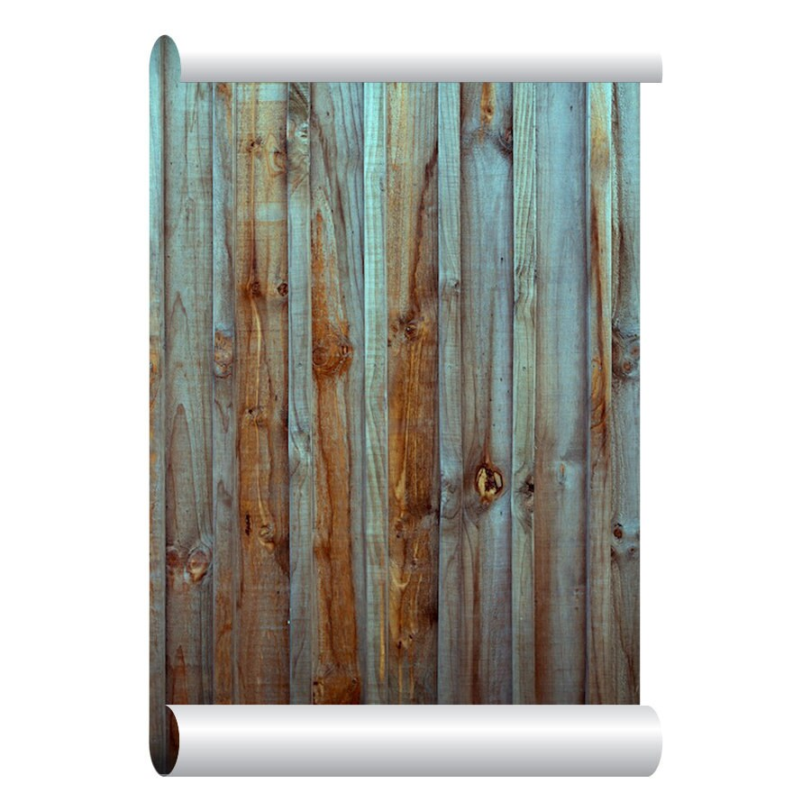 Self adhesive removable wallpaper old wood fence wallpaper for Mural on wood