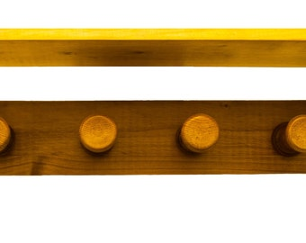 Coat rack rustic - aged pine - completely in wood