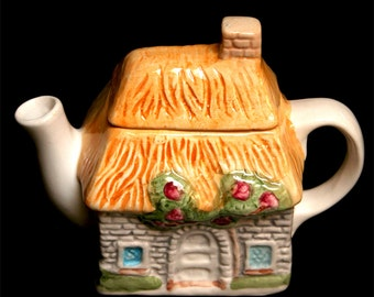 Cute Little Country Cottage Teapot