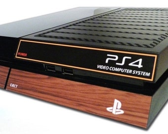 PS4 Skin EXCLUSIVE Vintage ATARI Style Carbon Skin