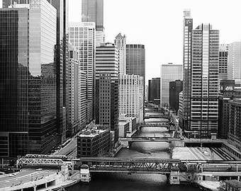 Chicago Fine Art Photography Black and White Photo Print (Unframed, Canvas, Framed, Metal or Acrylic)