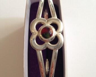 Silver Flower metal bracelet
