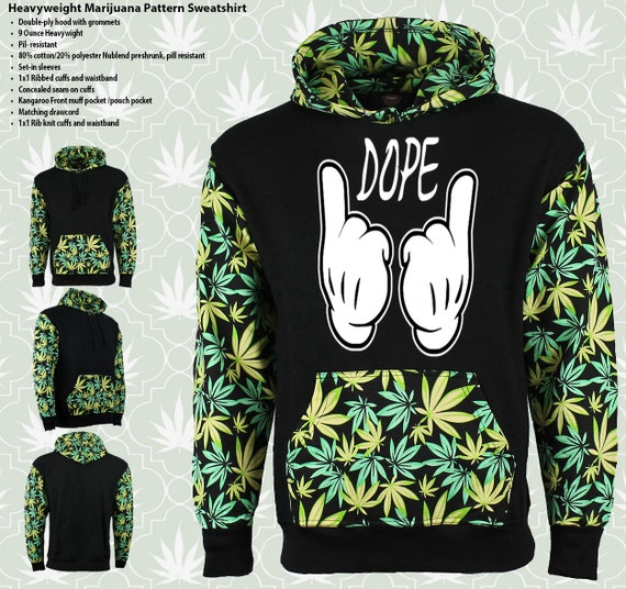 Mickey Hands Dope Marijuana Weed Leaf Unisex by ...