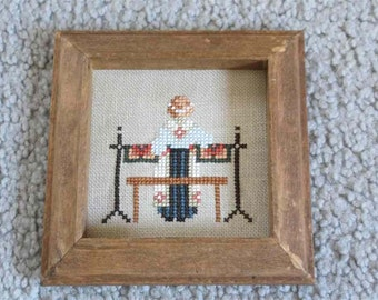 Amish Cross Stitch Picture