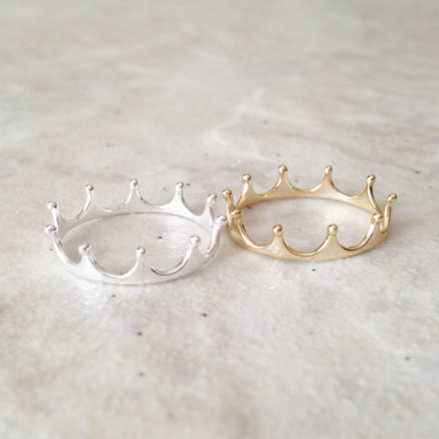 silver crown ring ring crown ring princess by