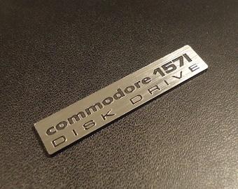Commodore 1571 Label / Aufkleber / Badge / Logo Silver 44mm x 9mm [264]