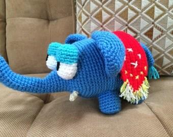 Cute Sleepy Crochet Elephant
