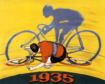 Bike Tour de France Bicycle Bike Cycle 1935 Meteore French Sport Race Vintage Poster Repro FREE SHIPPING in USA