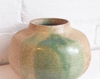 Minimalist Mid Century Stoneware Ceramic Flower Vase