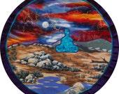 Mythala: Color Full Meditation; Mandala...Myth...Mythala. (Wall Hanging, Altar Cloth, Prayer, Meditation, Medicine Wheel, Ceremony, Ritual)