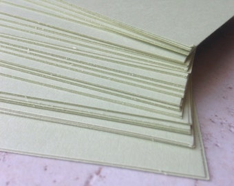100 letterpress business cards on sage