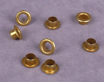 Gold Metal Grommets & Washers 6mm - 100 pieces (MG11GOR-100)