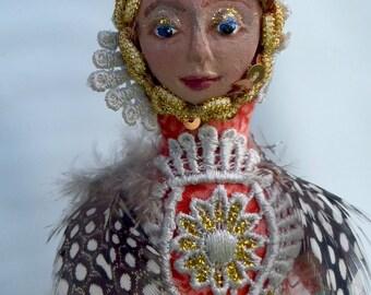 "VIRGO- ZODIAC Art Doll, OOAK, 20 cm (8"") Tall"
